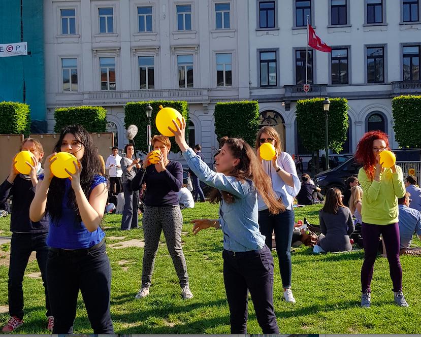 Flashmob Bruxelles – 16 mai